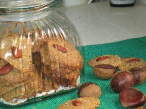 """עוגיות ערמונים שקדים - פרווה לט""""ו בשבט"""