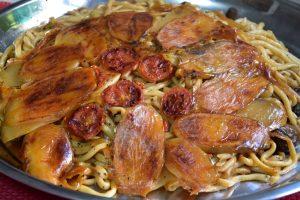 חמין פסטה פטריות עגבניות שרי - מתכון מקורי דינה דיש