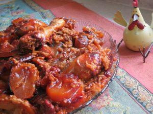 מקלובת שוקי עוף עגבניות מיובשות ולימון - מתכון מקורי דינה דיש
