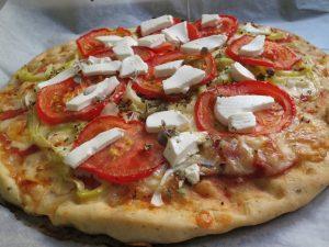 פיצת ירקות גבינות - מתכון דינה דיש
