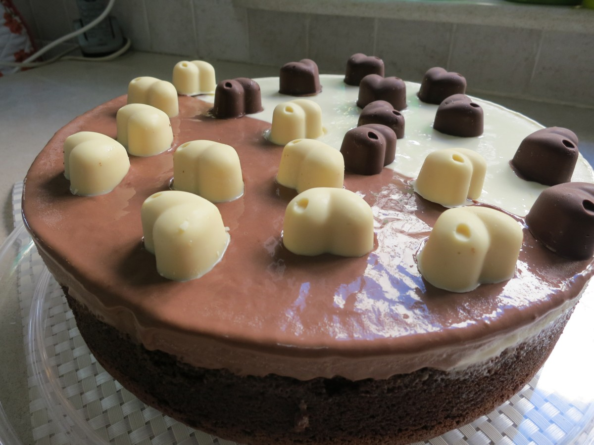 עוגת בלק אנד וייט - מתכון מקורי דינה דיש
